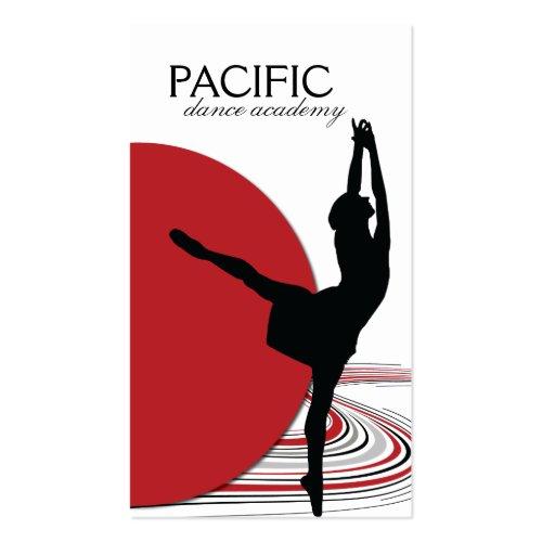 Red Dance Teacher Business Card