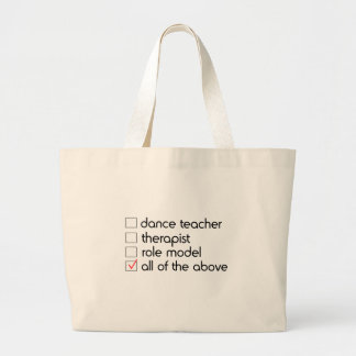 Dance Teacher Checklist Jumbo Tote Bag