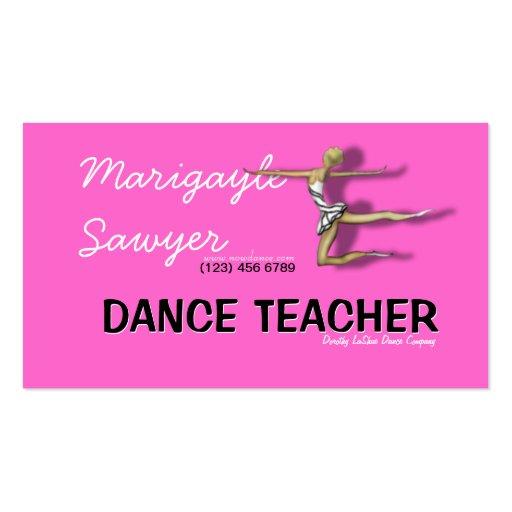 Dance teacher choreographer dancer business card zazzle for Dancer business cards