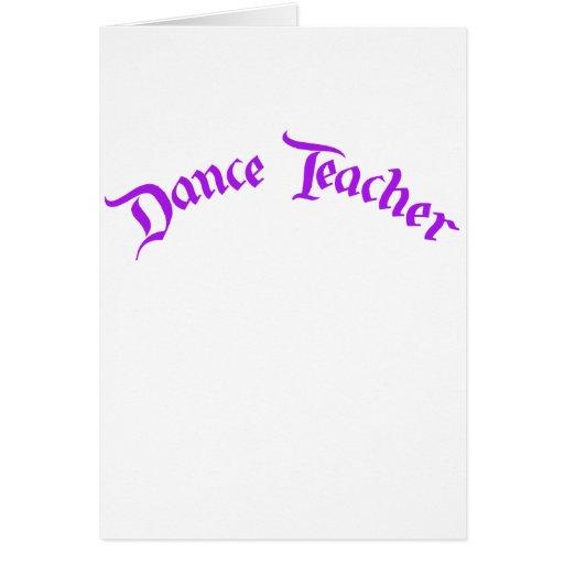 Dance Teacher (customize) Card