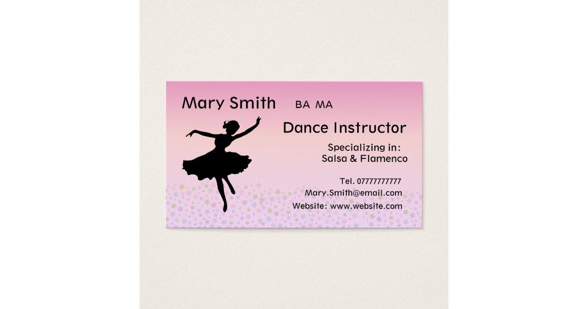 Dance Teacher / Dancing Instructor Business cards | Zazzle.com