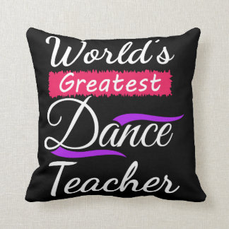 Dance Teacher End of the Year Recital Memento Gift Throw Pillow