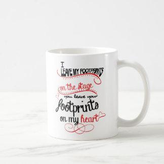 Dance Teacher - Footprints on the Heart Coffee Mug