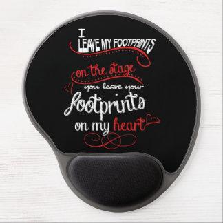 Dance Teacher - Footprints on the Heart Gel Mouse Pad