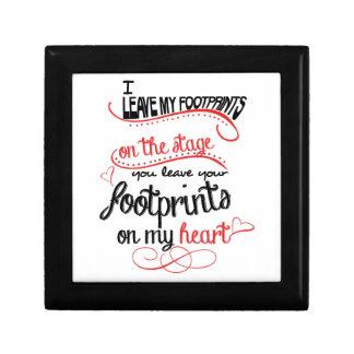 Dance Teacher - Footprints on the Heart Jewelry Box