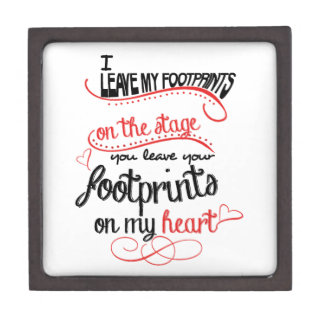 Dance Teacher - Footprints on the Heart Keepsake Box