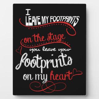 Dance Teacher - Footprints on the Heart Plaque