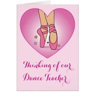 Dance Teacher Get Well Soon Card