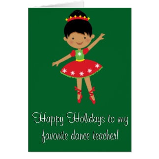 Dance Teacher Happy Holidays Card