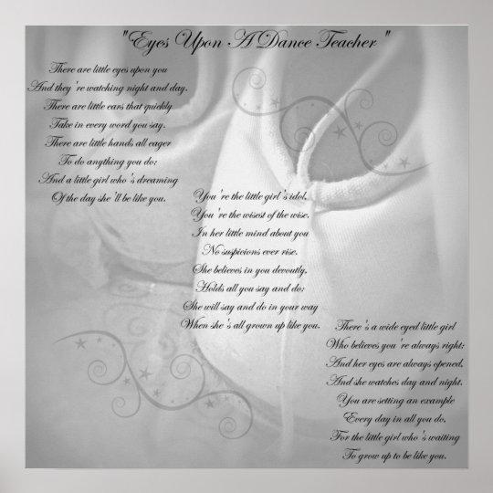 Dance Teacher Poem Poster
