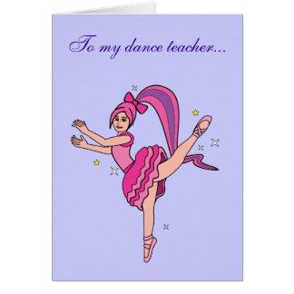 Dance Teacher Thank You Card