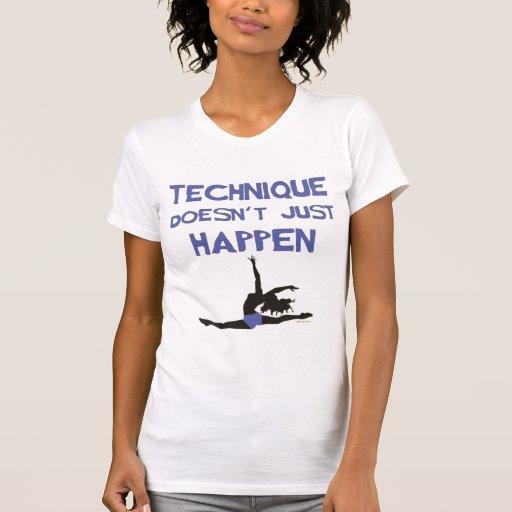 Dance technique ballet pointe jumps perform am1 t-shirt
