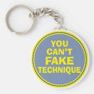Dance Technique Dancer Can't Fake It Dance class Basic Round Button Keychain