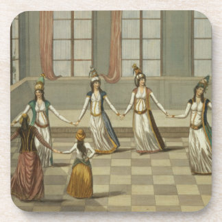 Dance that is fashionable with the Greek women of Drink Coaster