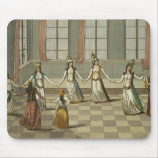 Dance that is fashionable with the Greek women of Mouse Pad