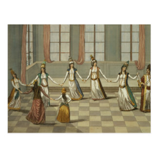 Dance that is fashionable with the Greek women of Postcard