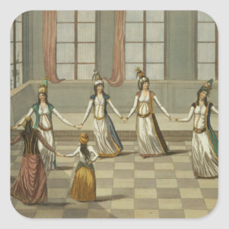 Dance that is fashionable with the Greek women of Square Sticker