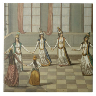 Dance that is fashionable with the Greek women of Ceramic Tiles