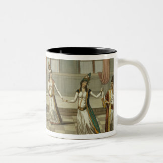 Dance that is fashionable with the Greek women of Two-Tone Coffee Mug