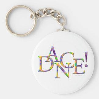 Dance! (Tie-dye) Basic Round Button Keychain