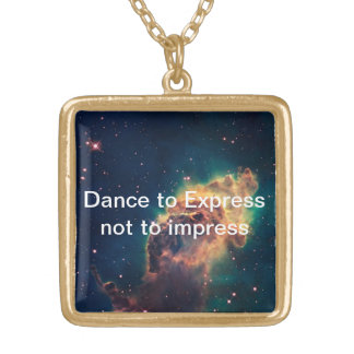 Dance To express Square Pendant Necklace