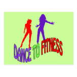 Dance to Fitness Post Card