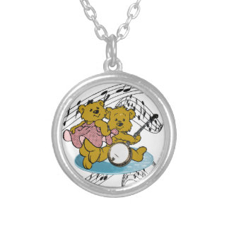 DANCE TO THE BANJO-NECKLACE SILVER PLATED NECKLACE