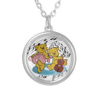 DANCE TO THE BASS-NECKLACE SILVER PLATED NECKLACE