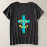 Dance to the Beat of His Heart Christian Plus Size T-Shirt
