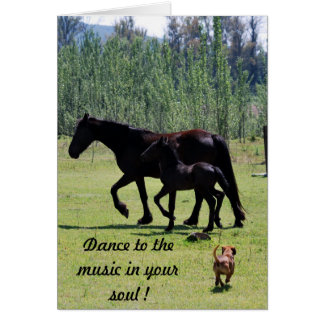 Dance to the music in your soul card
