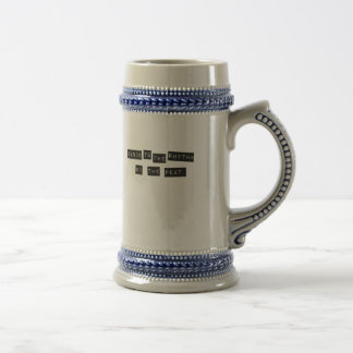 Dance to the Rhythm of the Peat Beer Stein