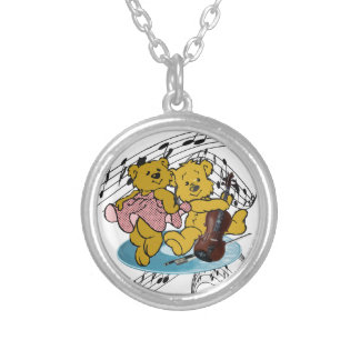 DANCE TO THE VIOLIN-NECKLACE SILVER PLATED NECKLACE