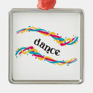 Dance Twists Metal Ornament