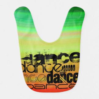 Dance; Vibrant Green, Orange, & Yellow Bib