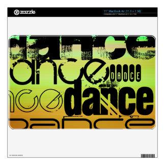Dance; Vibrant Green, Orange, & Yellow MacBook Decals