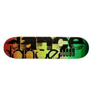 Dance; Vibrant Green, Orange, & Yellow Skateboard Decks