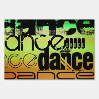 Dance; Vibrant Green, Orange, & Yellow Signs