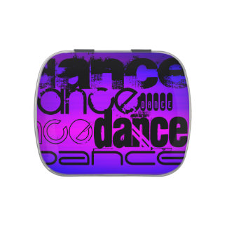 Dance; Vibrant Violet Blue and Magenta Candy Tin