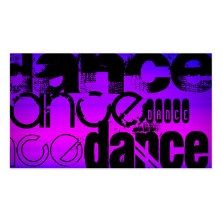 Dance; Vibrant Violet Blue and Magenta Double-Sided Standard Business Cards (Pack Of 100)