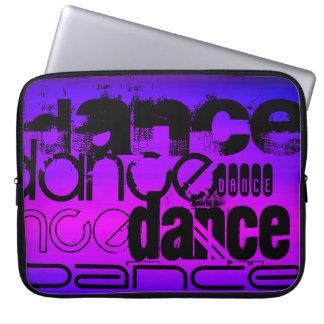 Dance; Vibrant Violet Blue and Magenta Laptop Sleeve