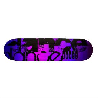 Dance; Vibrant Violet Blue and Magenta Skate Board Decks