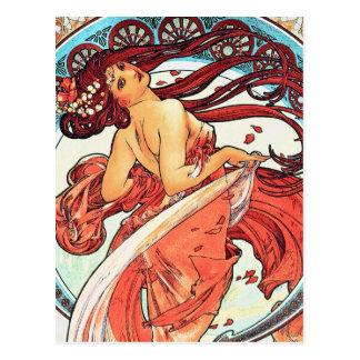 Dance - Vintage Art Nouveau by Mucha Post Card