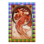 Dance, Vintage Art Print on Canvas 24 by 36