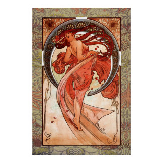 Dance Vintage Art Print on Canvas 24 by 36