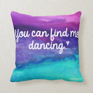 Dance Watercolor Pillow