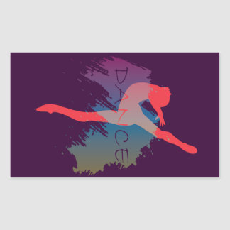 Dance Watercolor Rectangular Sticker