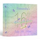 Dance With Butterflies 16th Birthday Keepsake Binder