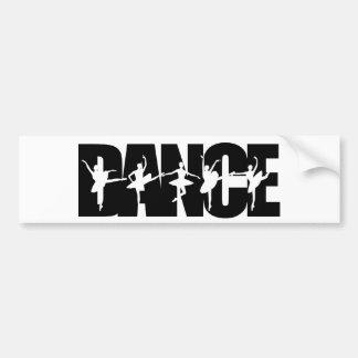Dance With Dancers Black Bumper Sticker