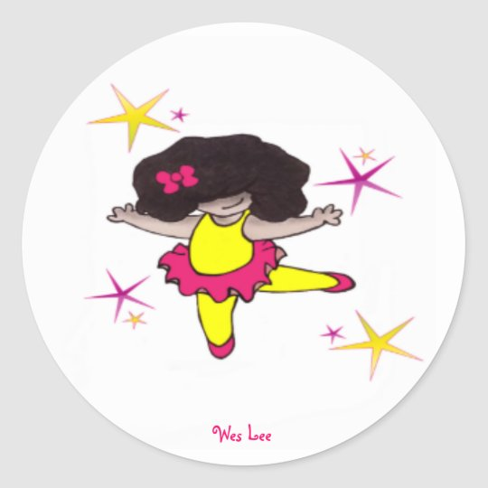 Dance With me Ballerina Classic Round Sticker