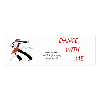 Dance With Me Mini Business Card